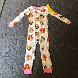 NWT 3T Disney Princess Pajamas | Toddler Girls One Piece Disney Princess Pajamas